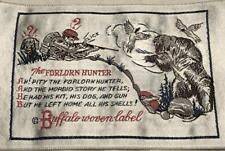 10 Vintage Silly Buffalo Woven Label Patches The Forlorn Hunter Bear Poem Dog