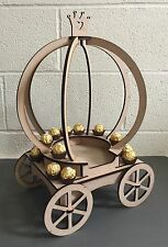 Y112 Princess Carriage Fairy-Tale Girls Party Candy Cart Sweet Mini Table Stand
