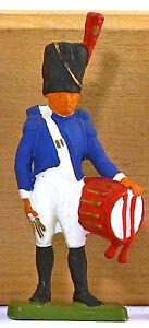 Cofalu Napoleonic French Grenadier Drummer - Painted Plastic Soldier mint 1960s