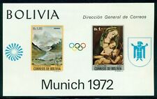 Bolivia Scott C318a MNH Paintings MUNICH Olympics 1972 CV$60+