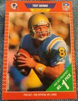1989 Pro Set Troy Aikman #490 Rookie HOF Dallas Cowboys QB