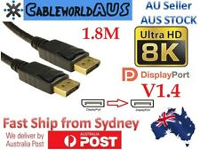 1.8M DisplayPort Cable 4K / 8K V1.4 Gold Plated High Speed Display Port DP to DP