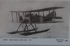 Pamlin Prints AM712 Westland Seaplane Royal Air Force Postcard