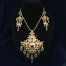 Red Jewelry Thai Dance RamThai Costume Wedding Traditional Accessories