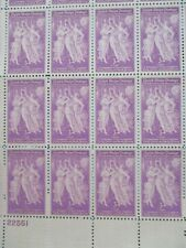 """BIICELLI'S  """"SPRING""""  plate block of  12  #895"""