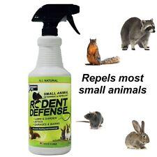 Spray Rodent Defense Small Animal Repellent Rats Squirrels Rabbits Gopher 32 Oz