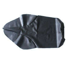 Custom Black Motorcycle PU Leather Seat Cover with Strap For Yamaha TW200 TW225