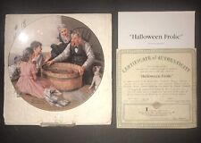 """1994 Knowles Norman Rockwell """"Halloween Frolic"""" Collector Plate"""