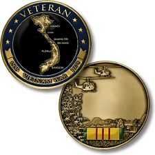 U.S. Military / Vietnam War Veteran - Engravable Challenge Coin