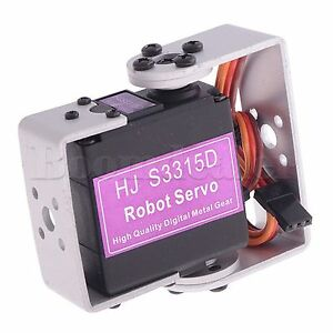HJ S3315D 15KG Brushless Motor 180° Rotierende Digital Robot Servo U mit Mouting