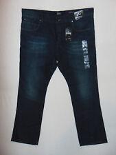 JEFF BANKS Jeans W44 L32 Mens Dark Blue Denim Jeans Straight Cut BNWT RRP £45