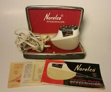 Vintage Norelco Electric SpeedShaver with Floating Heads, Case, Cord Instruction