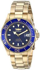 Invicta Man Automatic Watch Hombre Reloj Oro Gold Crystal Bracelet Steel Case