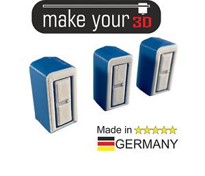 H0 Toiletten Set 1:87 3x Dixi Baustellen Mobile Toilette WC Toilettenhäuschen