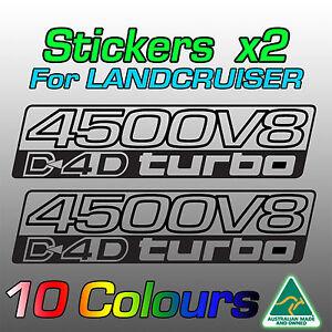 4500 V8 D4D Land Cruiser 200 70 76 78 79 stickers for 1VD-FTV Turbo Diesel