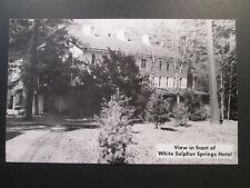 Vintage Postcard White Sulphur Springs Hotel ( N.Y.?-  W.V.?- Montana?)