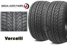 2 X New Vercelli Strada II 255/40R18 99W XL All Season Performance Tires