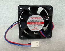 "Evercool 60mm x 25mm Server Fan 12V DC 3 Pin 10"" Leads EC6025SH12BA NEW"