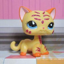 Littlest Pet Shop Animals LPS Loose Child Toys #2118 Glitter Sparkle Yellow Cat