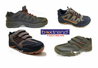 MENS HIKING BOOTS TRAINERS SHOES LACE UP VELCRO WALKING TRAIL TREKKING SIZE 7-11