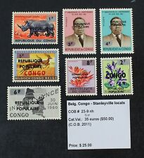 CKStamps: Belgium Stamps Collection Congo Local Mint NH OG