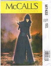 Mens Star Wars Coat Surcoat Hood Belt McCall Costume Sewing Pattern S M L XL XXL
