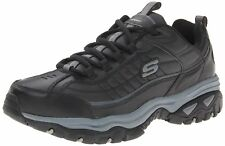 Skechers Sport Men s Energy Afterburn Lace Up Sneaker Black Gray 9 XW US