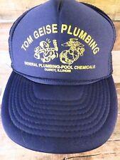 TOM GEISE PLUMBING Pool Chemicals Quincy Illinois Adjustable Adult Hat Cap