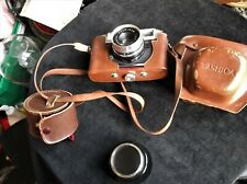 YASHICA J CAMERA + LEATHER CASE WITH YASHINON 1:2.8 + CASED FILTER 46 B.D.B.