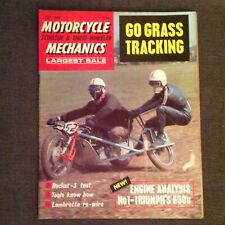 Motorcycle scooter and three wheeler mechanic Vintage magazine July 1969