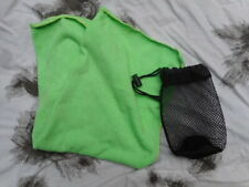SMALL SIZE HAND SIZE MicroFibre TRAVEL CAMPING HOLIDAY Towel & Stuff Sack