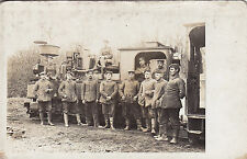 Ak WK1 Eisenbahn: Eisenbahner mit Kleinbahn.