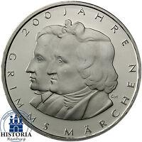 Deutschland 10 Euro Gedenkmünze 2012 Gebrüder Grimms Märchen bfr in Münzkapsel