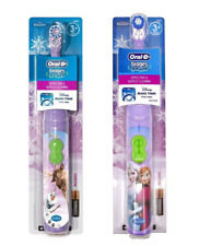 2 X ORAL B Battery Powered Toothbrush DISNEY FROZEN Age 3+