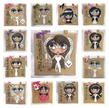 Any 4 Personalised Handpainted Jute Hen Party Bridesmaid Gift Bag Package Offer