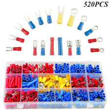 520Pcs Insulated Electrical Wiring Connector Crimp Terminals Set Kit 22-10 AWG