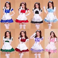 HOT! Anime Maid Outfit Uniform Cosplay Costume Lolita Princess Apron Maid Dress