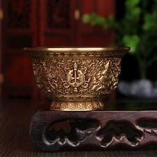 Tibet Buddhist Mikky Copper Offering Water Bowl Cup Divine Focus Ritual W