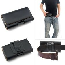 PU Synthetic Leather Belt Pouch Holster Holder Clip Case Cover for Mobile Phone