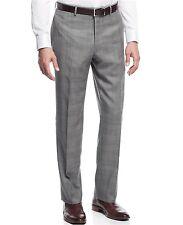 [153 57]Nautica Mens Houndstooth Cuffed Dress Pants Gray 32/32 $95