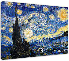 Quadro moderno Van Gogh Notte Stellata - Arte Arredo - Stampa su tela Intelaiato