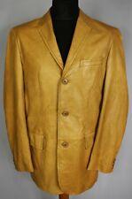 BOSS Leather Jacket Tan Brown Vintage 42 Large DL083