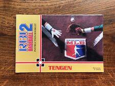 RBI Baseball 2 R.B.I. II R B I Tengen NES Nintendo Instruction Manual Only