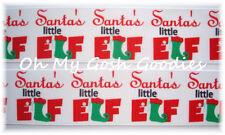 1.5 SANTAS LITTLE LIL ELF CHRISTMAS GROSGRAIN RIBBON ELVES 4 HAIRBOW BOW