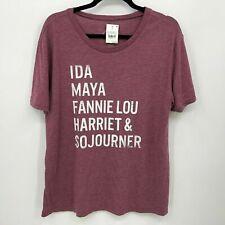Well Worn Top XL Heroes T-Shirt Burgundy