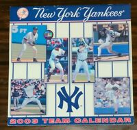 COLLECTIBLE VINTAGE 2003 NEW YORK YANKEES CALENDAR