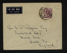 Straits  Settlements 194  on  cover to  England          KEL 0424