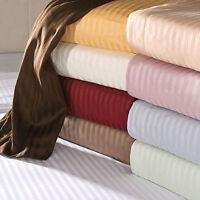 1000 TC Egyptian Cotton US King&Queen Size Sheets/Duvet Set/Pillow Stripe Color,