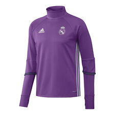 Real Madrid adidas Felpa Allenamento Training Top Sweatshirt Viola 2016 17 S