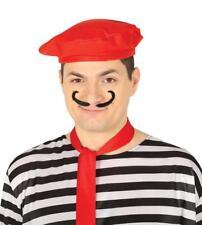 Cappello basco rosso per travestimento pittore bohémien mimo